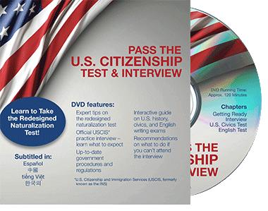 Pass the U.S. Citizenship Test and Interview DVD